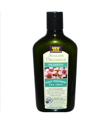 Avalon Organics, Shampoo, trattamento del cuoio capelluto albero del tè (325 ml)