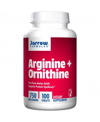 Jarrow Formulas, Arginine + Ornithine, 750 mg, 100 Tablets