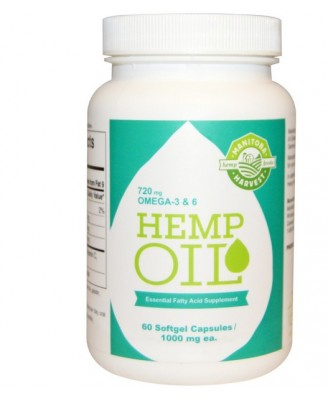 Manitoba Harvest, Hemp Oil, 1000 mg, 60 Softgel Capsules