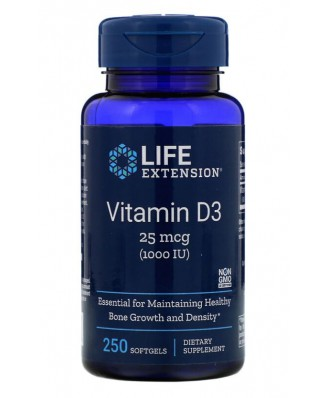Vitamin D3 1000 IU (250 Softgels)