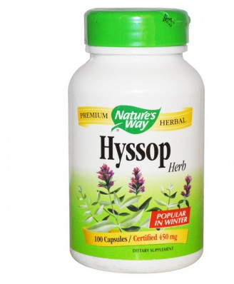 Hyssop Herb 450 mg (100 Capsules) - Nature's Way