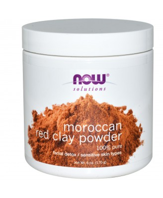 Moroccan Red Clay Facial Detox Powder (170 gram) - Now Foods