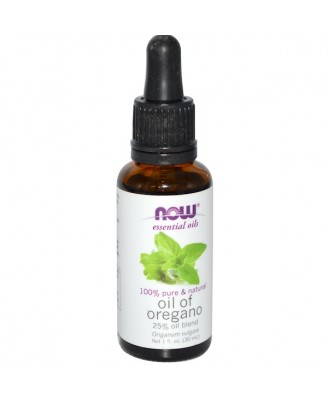 Organic Essential Oils- 100% Pure Oregano Oil (30 ml) - Now Foods