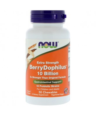 Extra Strength - Berry Dophilus (50 chewable tablets) - Now Foods