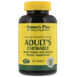 Adult's Chewable Multi-Vitamin and Mineral - Natural Pineapple Flavor (90 Tablets) - Nature's Plus
