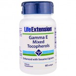 Gamma E Mixed Tocopherols (60 Softgels) - Life Extension