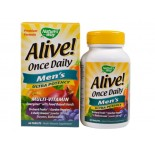 Alive! Once Daily Men's Multi-Vitamin (60 Tablets) - Nature's Way