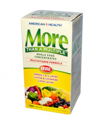 American Health, More Than A Multiple, Multivitamin Formula, 120 Tablets