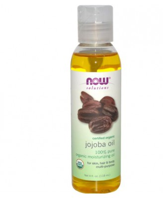 Certified Organic Jojoba Oil (118 ml) - Now Foods