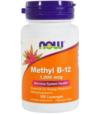 Now Foods, Methyl B-12, 1000 mcg, 100 Lozenges