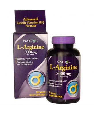 Natrol, L-Arginine, 3000 mg, 90 Tablets