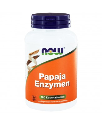 Papaja Enzymen  (180 kauwtabs) - NOW Foods