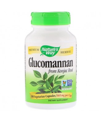 Nature's Way, Glucomannan Konjac Root, 665 mg, 100 Vcaps