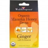 Organic Manuka Honey Drops Ginger with Echinacea (120 gram) - Wedderspoon Organic