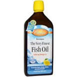 Norwegian - The Very Finest Fish Oil - Natural Lemon Flavor (500 ml) - Carlson Laboratories