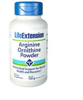 Arginina Ornitina Polvere 150 grammi (5.29 Oz) - Life Extension