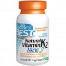 Doctor's Best, Vitamina K2 naturale, Mena Q7, 45 mcg, 180 Veggie Caps