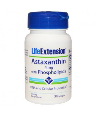 Astaxanthin with Phospholipids 4 mg (30 Softgels) - Life Extension