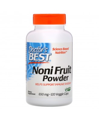 Noni Fruit Powder 650 mg (120 Veggie Caps ) - Doctor's Best
