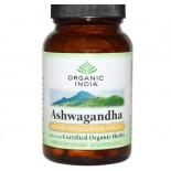 Organic India, organici, Ashwagandha, Veggie 90 Caps