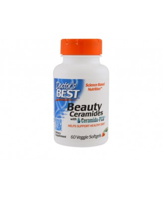 Beauty Ceramides with Ceramide-PCD (60 Veggie Caps) - Doctor's Best