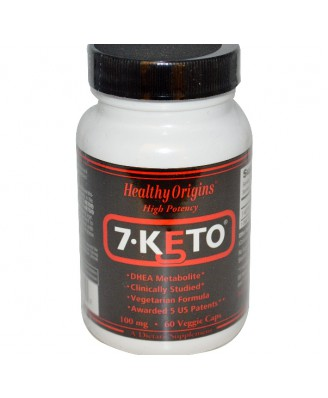 7-Keto 100 mg (60 Veggie Caps) - Healthy Origins
