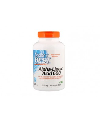 Alpha-Lipoic Acid 600 mg (180 Veggie Caps) - Doctor's Best