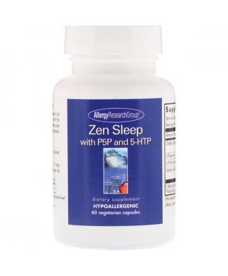 Zen Sleep with P5P and 5-HTP 60 Vegetarian Capsules - Allergy Research Group