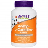 Acetyl-L-Carnitine 500 mg (100 Veg Caps) - Now Foods