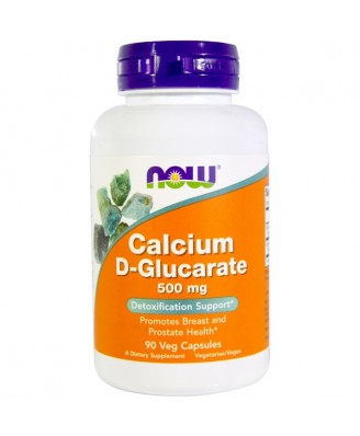 Calcium D-Glucarate 500 mg (90 Vegetarian Capsules) - Now Foods