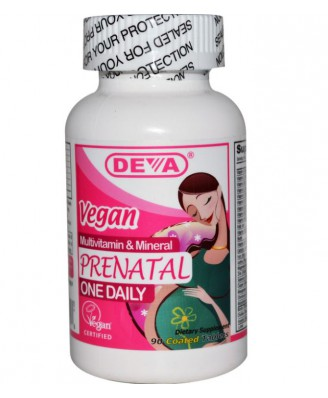 Deva, Prenatal, Multivitamin & Mineral One Daily, 90 Coated Tablets