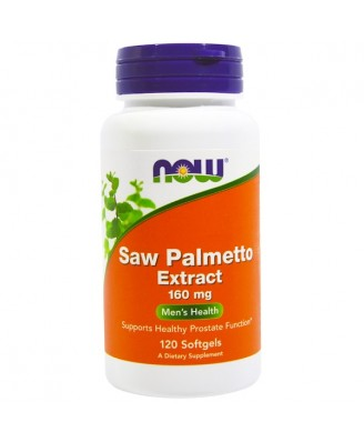 Saw Palmetto Extract 160 mg (120 softgels) - Now Foods