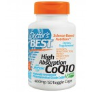 Doctor's Best, High Absorption CoQ10 with BioPerine, 400 mg, 60 Veggie Caps
