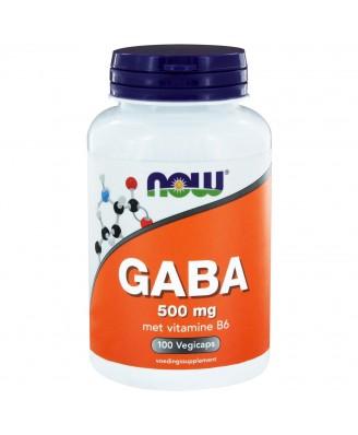 GABA 500 mg met vitamine B6 (100 capsules) - Now Foods