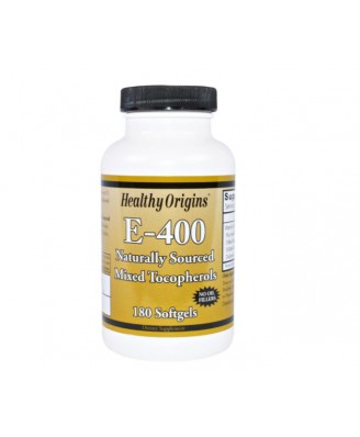 Healthy Origins, E-400, 180 Softgel Capsules