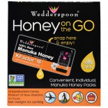 Honey On The Go KFactor 16 (24 Packs, 5 g Each) - Wedderspoon Organic