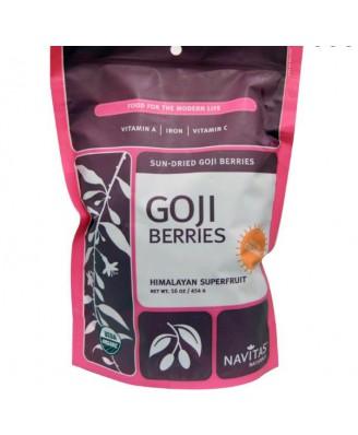 Navitas Naturals, bacche di Goji, essiccati al sole, 16 oz (454 g)