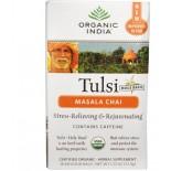 Tulsi Holy Basil Tea, Masala Chai, 18 Infusion Bags (37.8 g) - Organic India