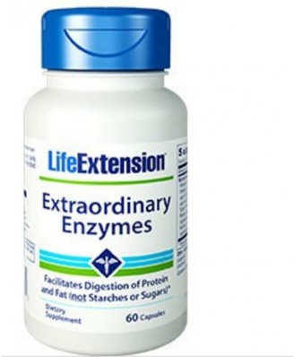 Enzymes Extraordinaires - 60 Capsules - Life Extension