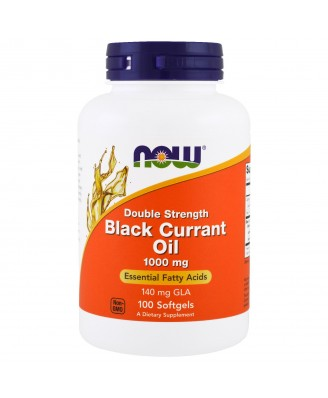 Black Currant Oil Double Strength 1000 mg (100 softgels) - Now Foods