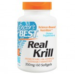 Doctor's Best, Real Krill, 350 mg, 60 Softgel Capsules