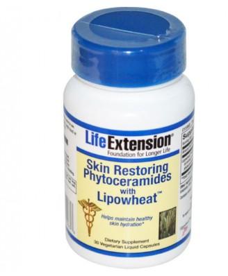 pelle restituendole del Phytoceramides con Lipowheat, 30 Caps liquido Veggie -Life Extension