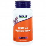 MSM en Hyaluronzuur (60 vegicaps) - NOW Foods