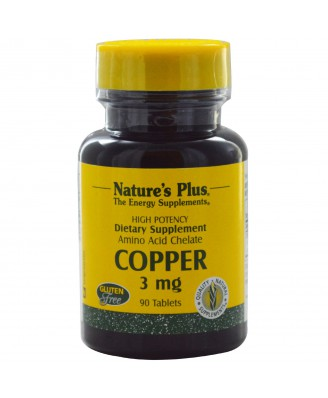 Copper, 3 mg (90 Tablets) - Nature's Plus