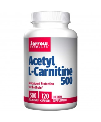 Acetyl L-Carnitine 500, 500 mg (120 Capsules) - Jarrow Formulas