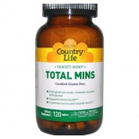 Country Life, Gluten Free, Target-Mins, Total Mins, 120 Tablets